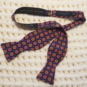 Ted Baker London adjustable bow tie blue orange